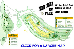 Flint River RV Park Site Map